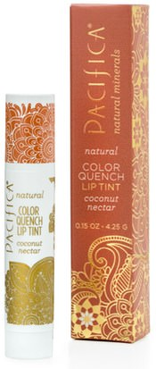 Baño, Belleza, Lápiz Labial, Brillo, Liner Pacifica, Natural Color Quench Lip Tint, Coconut Nectar, 0.15 oz (4.25 g)