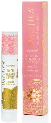 Baño, Belleza, Lápiz Labial, Brillo, Liner Pacifica, Natural Color Quench Lip Tint, Vanilla Hibiscus, 0.15 oz (4.25 g)