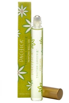 Baño, Belleza, Perfumes, Aerosoles De Fragancias Pacifica, Perfume Roll-On, Tahitian Gardenia.33 fl oz (10 ml)