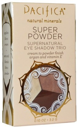 Baño, Belleza, Maquillaje, Sombra De Ojos Pacifica, Super Powder Supernatural Eye Shadow Trio, Shades: Stone, Cold, Fox, 0.10 oz (3.0 g)