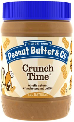 Comida, Mantequilla De Maní Peanut Butter & Co., Crunch Time, Crunchy Peanut Butter, 16 oz (454 g)