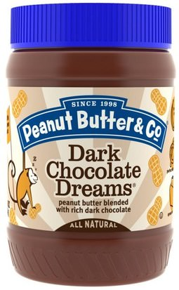 Comida, Mantequilla De Maní Peanut Butter & Co., Dark Chocolate Dreams, Peanut Butter Blended with Rich Dark Chocolate,, 16 oz (454 g)