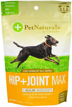 Cuidado De Mascotas, Mascotas Perros Pet Naturals of Vermont, Hip + Joint Max, For Dogs, 60 Chews, 11.2 oz (318 g)