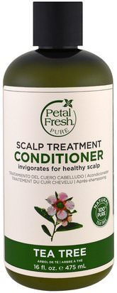 Baño, Belleza, Cabello, Cuero Cabelludo, Champú, Acondicionador Petal Fresh, Pure, Scalp Treatment Conditioner, Tea Tree, 16 fl oz (475 ml)