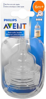 Avent 2-Pack Slow Flow Anti-Colic Bottle Nipples