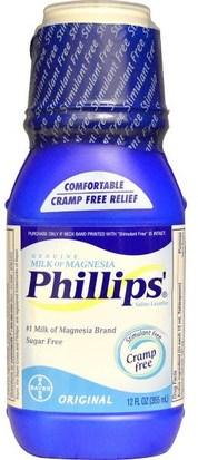 Salud, Estreñimiento Phillips, Genuine Milk of Magnesia, Saline Laxative, Original, 12 fl oz (355 ml)