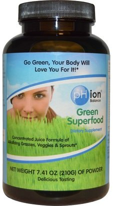 Suplementos, Superalimentos, Verdes pHion Balance, Green Superfood, Powder, 7.41 oz (210 g)