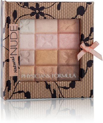 Baño, Belleza, Maquillaje, Polvo Shimmer / Bronzer Physicians Formula, Inc., Shimmer Strips, All-In-1 Custom Nude Palette, For Face & Eyes, Natural Nude, 0.26 oz (7.5 g)