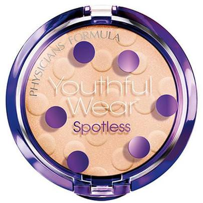 Baño, Belleza, Maquillaje, Polvo Compacto Physicians Formula, Inc., Youthful Wear, Cosmeceutical Youth-Boosting, Spotless Powder, Translucent, SPF 15, 0.33 oz (9.5 g)