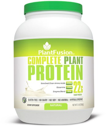 Suplementos, Proteína PlantFusion, Complete Plant Protein, Natural, 2 lbs (908 g)