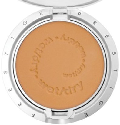 Baño, Belleza, Maquillaje, Polvo Compacto Prestige Cosmetics, Multi Task Wet/Dry Powder Foundation, Light Cocoa.35 oz (10g )