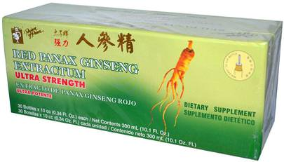 Suplementos, Adaptógeno, Gripe Fría Y Viral, Panax Del Ginseng Prince of Peace, Red Panax Ginseng Extractum, Ultra Strength, 30 Bottles, 0.34 fl oz (10 cc) Each