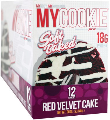 Comida, Tentempiés, Deportes ProSupps, My Cookie, Red Velvet Cake, 12 Cookies, 2.82 oz (80 g) Each