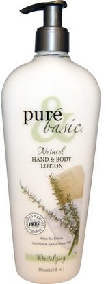 Baño, Belleza, Loción Corporal Pure & Basic, Natural Hand & Body Lotion, Revitalizing, 12 fl oz (350 ml)