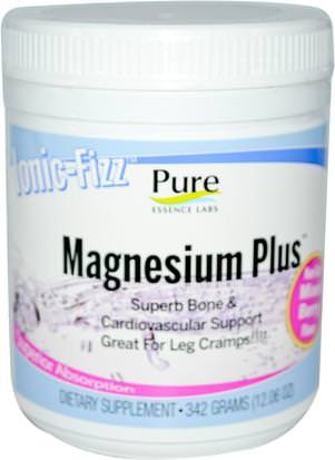 Suplementos, Minerales, Magnesio Pure Essence, Ionic-Fizz, Magnesium Plus, Mixed Berry, 12.06 oz (342 g)