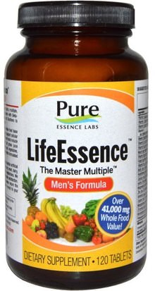 Vitaminas, Hombres, Multivitaminas Pure Essence, LifeEssence, The Master Multiple, Mens Formula, 120 Tablets