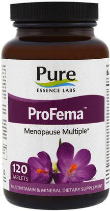 Vitaminas, Mujeres Multivitaminas, Menopausia Pure Essence, ProFema, Menopause Multiple, 120 Tablets