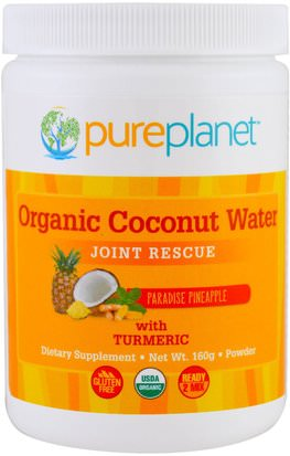 Suplementos, Salud, Ligamentos Articulares Pure Planet, Organic Coconut Water, Joint Rescue, Paradise Pineapple, 160 g