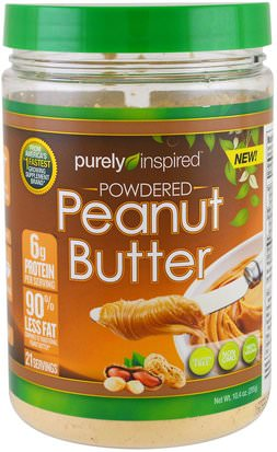 Comida, Mantequilla De Maní Purely Inspired, Powdered Peanut Butter, 10.4 oz (295 g)