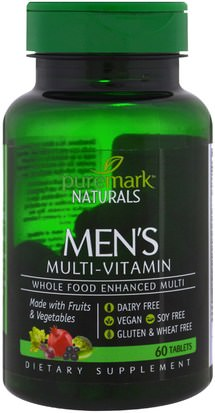 Vitaminas, Hombres, Multivitaminas PureMark Naturals, Mens Multi-Vitamin, 60 Tablets