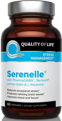 Suplementos, Dhea, Salud, Anti Estrés Quality of Life Labs, Serenelle, Stress Management, 60 Vegicaps