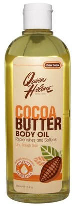 Salud, Piel, Manteca De Cacao, Aceite De Masaje Queen Helene, Cocoa Butter Body Oil, Enriched With Vitamin E, 10 fl oz (296 ml)