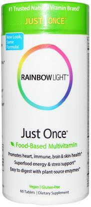 Vitaminas, Hombres Multivitaminas, Mujeres Multivitaminas Rainbow Light, Just Once, Food-Based Multivitamin, 60 Tablets