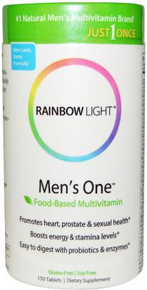 Vitaminas, Hombres Multivitaminas, Hombres Rainbow Light, Just Once, Mens One, Food-Based Multivitamin, 150 Tablets