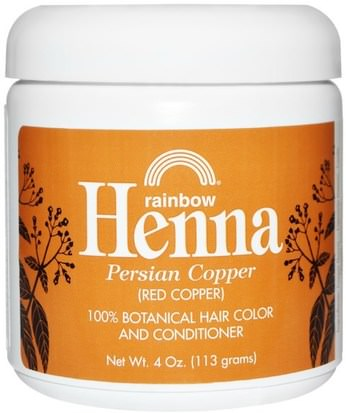 Baño, Belleza, Cabello, Cuero Cabelludo, Color De Cabello, Cuidado Del Cabello Rainbow Research, Henna, Hair Color and Conditioner, Copper (Red Copper), 4 oz (113 g)