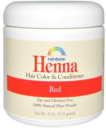 Baño, Belleza, Cabello, Cuero Cabelludo, Color De Cabello, Cuidado Del Cabello Rainbow Research, Henna, Hair Color and Conditioner, Red, 4 oz (113 g)