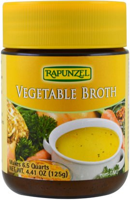 Comida, Sopas Y Granos De Pasta De Arroz, Pasta Y Sopa Rapunzel, Vegetable Broth, 4.41 oz (125 g)