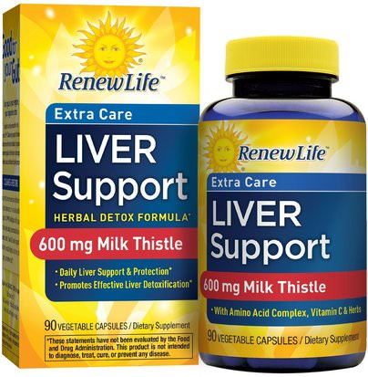 Salud, Desintoxicacion, Apoyo Del Higado Renew Life, Extra Care, Liver Support, Herbal Detox Formula, 90 Vegetable Capsules