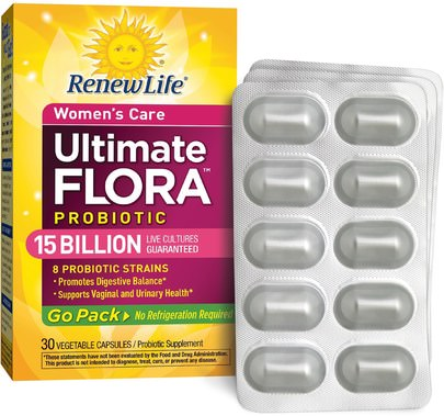 Salud, Mujeres, Suplementos, Probióticos, Probióticos Estabilizados Renew Life, Ultimate Flora, Probiotic, 15 Billion Live Cultures, 30 Vegetable Capsules