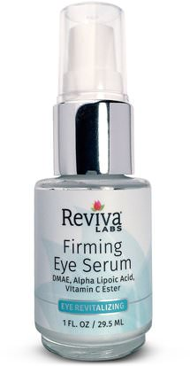 Salud, Mujeres, Cremas De Ácido Alfa Lipoico Spray, Dmae Reviva Labs, Firming Eye Serum, 1 fl oz (29.5 ml)