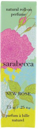 Baño, Belleza Sarabecca, Natural Roll-On Perfume, New Rose.25 fl oz (7.5 ml)