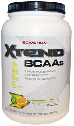 Deportes, Entrenamiento, Deporte Scivation, Xtend, BCAAs, Lemon Lime, 45.5 oz (1291 g)