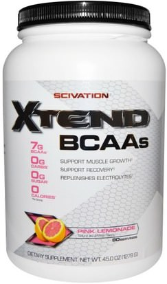 Deportes, Entrenamiento, Deporte Scivation, Xtend, Intra-Workout Catalyst, Pink Lemonade, 45.0 oz (1278 g)