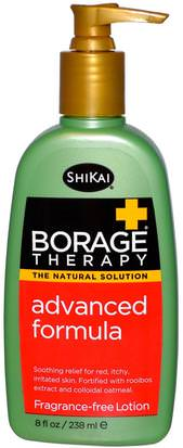 Baño, Belleza, Loción Corporal Shikai, Borage Therapy, Advanced Formula Lotion, Fragrance-Free, 8 fl oz (238 ml)