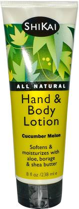 Baño, Belleza, Loción Corporal Shikai, Hand & Body Lotion, Cucumber Melon, 8 fl oz (238 ml)