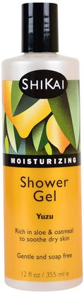 Baño, Belleza, Gel De Ducha Shikai, Moisturizing Shower Gel, Yuzu, 12 fl oz (355 ml)