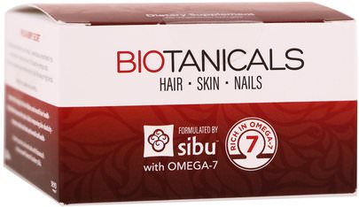 Baño, Belleza, Adelgazamiento Y Rebrote, Mujeres Sibu Beauty, Biotanicals, Hair, Skin, Nails with Omega-7, 60 Vegetarian Softgels