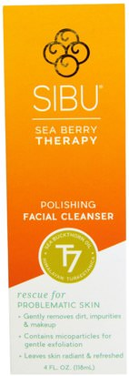 Belleza, Cuidado Facial, Piel, Limpiadores Faciales Sibu Beauty, Sea Berry Therapy, Polishing Facial Cleanser, Sea Buckthorn Oil, T7, 4 fl oz (118 ml)