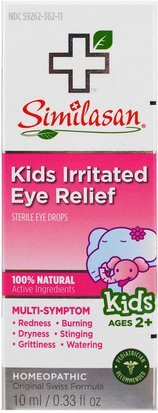 Suplementos, Homeopatía, Salud De Los Niños Similasan, Kids Irritated Eye Relief, Sterile Eye Drops, Ages 2+, 0.33 fl oz (10 ml)
