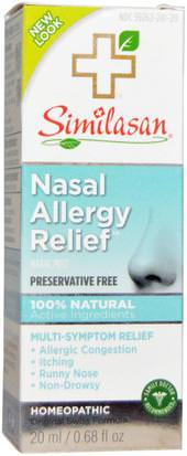 Salud, Salud Nasal, Aerosoles Nasales, Alergias, Alergia Similasan, Nasal Allergy Relief, 0.68 fl oz (20 ml)