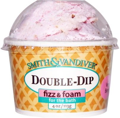 Baño, Belleza, Sales De Baño Smith & Vandiver, Double-Dip Fizz & Foam, Very Berry, 4 oz (113 g)