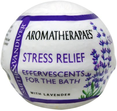 Baño, Belleza, Sales De Baño Smith & Vandiver, Effervescents For The Bath, Stress Relief, 2.8 oz (80 g)
