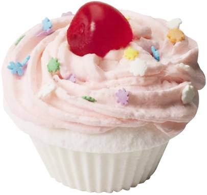 Baño, Belleza, Sales De Baño Smith & Vandiver, The Fizzy Baker, Cupcake Bath Fizz, Cherry, 5.25 oz (148 g)