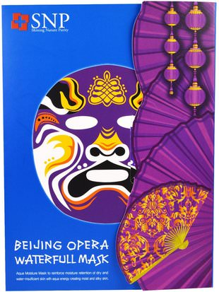 Baño, Belleza, Máscaras Faciales, Máscaras De Láminas SNP, Beijing Opera Waterfull Mask, 10 Masks x (25 ml) Each