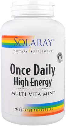 Vitaminas, Multivitaminas Solaray, Once Daily High Energy, Multi-Vita-Min, 120 Vegetarian Capsules