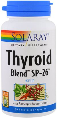 Salud, Tiroides Solaray, Thyroid Blend SP-26, 100 Veggie Caps